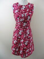 Warehouse jacquard dress pink floral size 12 bnwt tapestry feel pretty smart