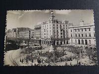 Cpsm Zaragoza Plaza de España Y Paseo de La Independencis