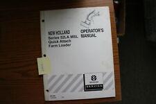 New Holland Series 52la Msl Quick Attach Farm Loader Operators Manual
