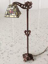 Dolls house miniature 1:12 ARTISAN stunning Tiffany working floor lamp