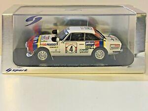 1/43 Spark S1295: Peugeot 504 V6 n°4 Winner Safari Rally 1978