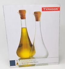 Typhoon Seasonings Swan Glass Drizzlers, Set of 2 Seasoning Oil Vinegar Dressing
