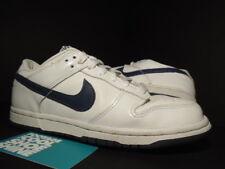 2002 Nike Dunk Low Pro WHITE DENIM NAVY BLUE 302517-142 Sz 6 4.5