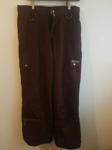 MORROW Large Mens 34 W 32 L lined Corduroy/Cord Snowboard Snow Pants