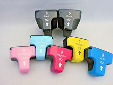 7PK HP02 HY Ink Cartridge for HP Photosmart C8250 C8180 C7280 C5180 D7360 D7460