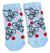 LADIES DISNEY DUMBO FLYING BLUE SHOE LINERS SOCKS UK 4-8 USA 6-10