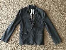 JUICY COUTURE Men'sSlim Fit - BLACK JACKET DISTRESSED Size 38