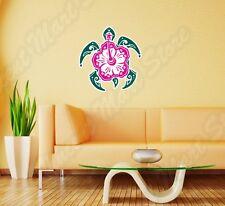 "Sea Turtle Hibiscus Hawaii Aloha Wall Sticker Room Interior Decor 20""X25"""