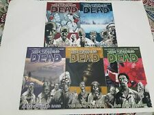 The Walking Dead Vol. 1-5 Image Softcover Graphic Novel Comic Book Lot
