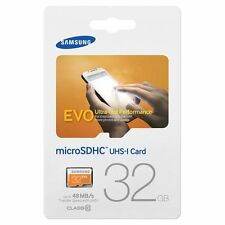 32GB Samsung EVO Micro SD SDXC Memory Card Class 10 48MB/s UHS-I MB-MP32D NEW