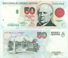 ARGENTINA NOTE 50 PESOS (1996) FERNANDEZ-PIERRI SUFFIX B B# 3069 P 344b XF+
