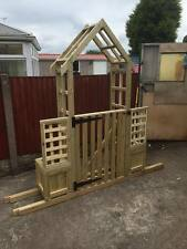 Garden Arch with side trellis Garden Arch with a Gate, garden arch with gate