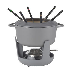 Vivo by Villeroy & Boch CW0623 Cast Iron Fondue Set with 6 Forks Included