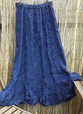 HipPY Boho Gypsy WICCA Pagan BLUE EMB HOLY CLOTHING LONG Maxi Skirt BNWT l xl
