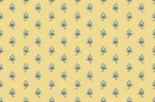 Circa 1825 Tiny Flower Blue/Gold Quilt Fabric - 1 Yard