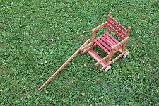 Ancienne poussette pliante bois pour poupée poupon dejou 37*22*34 cm fille N718