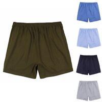 2x Men Cotton Boxer Shorts Plain Underwear Breathable Stretch Large Briefs Solid