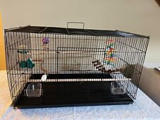 Stackable Flight Finch Parakeet Bird Cage with all Toys and Accessories