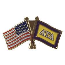 Delta Tau Delta Flag and USA Flag Lapel Pin