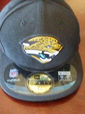 NWT~NFL OnField~Black JACSONVILLE JAGUARS New Era 59Fifty Cap / Hat~Men's 7 7/8