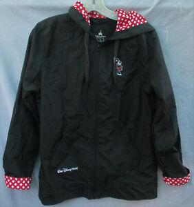 Disney Minnie Mouse Hooded Zip Up Windbreaker Jacket Size S