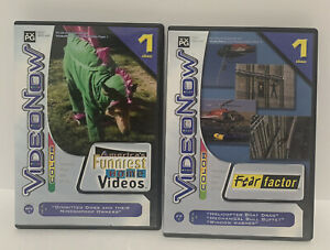 VideoNow Color Fear Factor & America's Funniest Home Videos (2004, PVD) -2 Disks