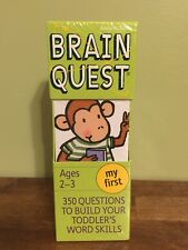 Brain Quest My First, Ages 2-3 : 350 Questions to Build Your Toddler's Word...