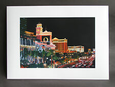 "Signed A3 art print of ""Las Vegas Strip"" oil on canvas painting"