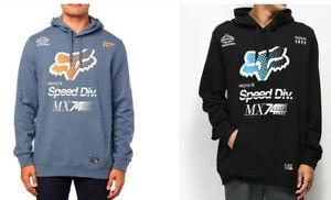 Fox Racing Mens Backdrafter Black Hoodie Fleece Pullover Sweatshirt Jumper S M L