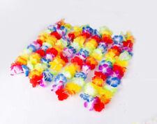 Hawaiian Style 10pcs Colorful Flower Leis Cute Garland Necklace Beach Dress