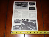 1967 CHRYSLER IMPERIAL - ORIGINAL VINTAGE ARTICLE