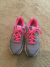 Nike Girl's Downshifter 6 Size 5.5Y Athletic Shoes Gray/Black/Pink