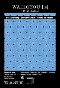 Duschvorhang Textil der Extraklasse mit Punkten lila oder blau hochwertig WAMOYO