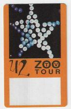U2 - Zoo Tv Tour / Unused Otto Satin Cloth Backstage Pass !