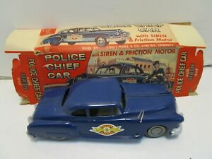 VINTAGE 1950's FRICTION MARX POLICE CHIEF W/BOX