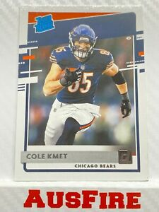 NFL Cole Kmet Chicago Bears 2020 Panini Donruss Rated Rookie Card #331