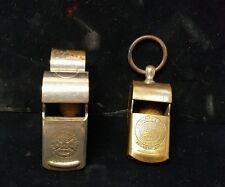 Vintage Lot of 2 sports whistles AJ Reach & Co. Umpire Rare Football & spalding