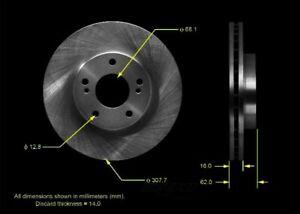 Disc Brake Rotor-Base Rear Bendix PRT5537