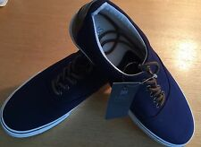 MARKS & SPENCERS NAVY BLUE CANVAS CASUAL RUNNERS/SNEAKERS UK 7 - NEW WITH TAGS