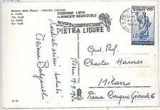 ITALY  -  POSTAL HISTORY: postcard 1960 - BOATS  PALM TREES