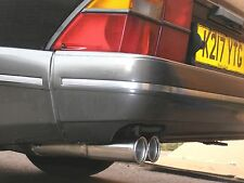 SAAB 900 CLASSIC CARLSSON STAINLESS TWIN TAILPIPE EXHAUST TURBO AERO CONVERTIBLE