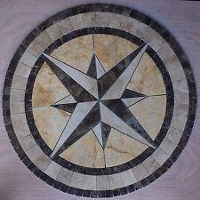 """Marble Travertine Tile Medallion Design Stone 32"""" #9"""