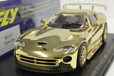 FLY E7 DODGE VIPER GTS-R GOLD 2ND ANNIVERSARY CAR NEW 1/32 SLOT CAR IN DISPLAY