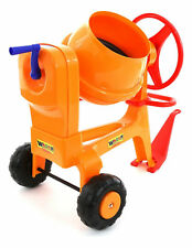WADER TOYS - CEMENT MIXER with TOW HITCH Rotates and Tips For Pedal Car Tractor