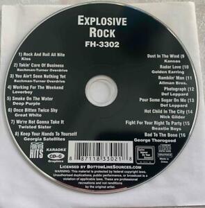 EXPLOSIVE ROCK KARAOKE CDG HITS FH-3302 FOREVER HITS MUSIC SONGS CD CD+G