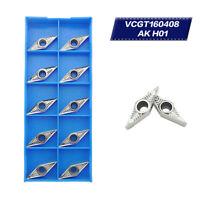 10 x VCGT160408-AK H01 VCGT332-AK Wendeschneidplatten für Metallbearbeitung