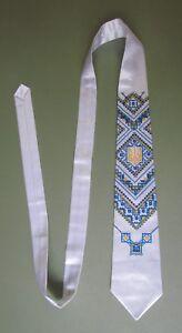 "Ukrainian Embroidered Neck Tie for Men, 57"", Design #2"