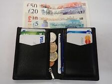 Top Quality Soft Cow Leather Slim Tall Wallet ideal for Back Pocket Black