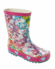 GIRLS BRIGHT SHOPKINS RUBBER WELLINGTON BOOTS WELLIES SNOW RAIN BOOTS SIZES 8-2