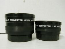 Photoco Video Wide Angle Converter 0.57x 46mm/S-VII & 1.4x Camcorder Lens